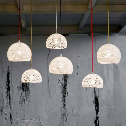 Lâmpada em algodão e viscose suspensa In-es.artdesign Modern texture