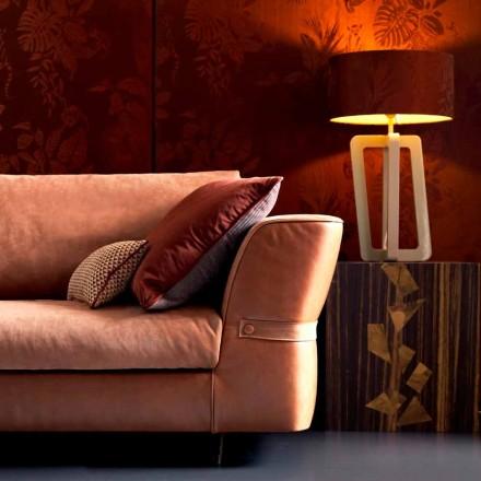 Candeeiro de mesa de design em madeira lacada sólida Grilli Barnaby fez Itália