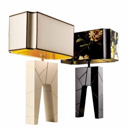 Candeeiro de mesa de design moderno em madeira maciça Grilli Zarafa fez Itália