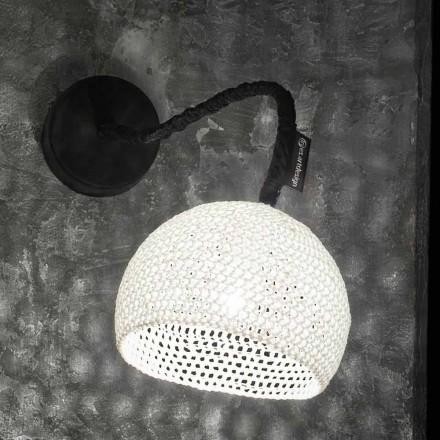 Luminária de parede de resina e algodão In-es.artdesign Modern A1 texture