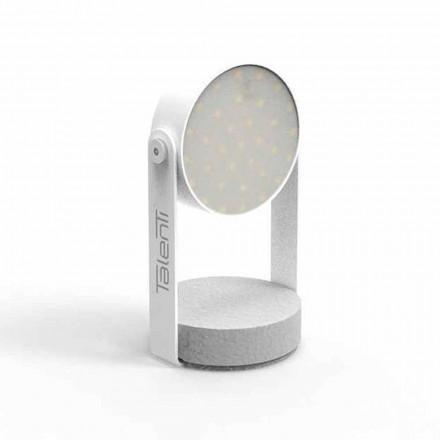 Candeeiro de mesa LED para exterior, alumínio branco ou grafite - Tofee by Talenti