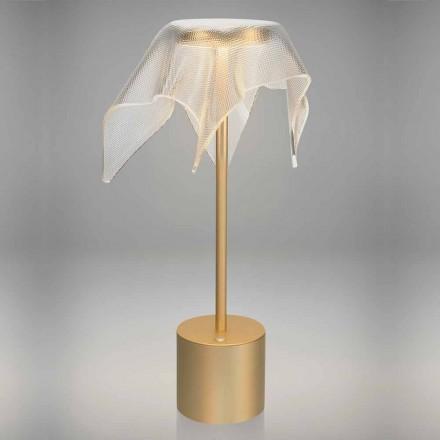 Lâmpada LED em Metal Colorido e Plexiglass Prismático Transparente - Tagalong