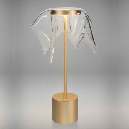Lâmpada LED Touch em Metal Colorido e Plexiglass Transparente - Tagalong