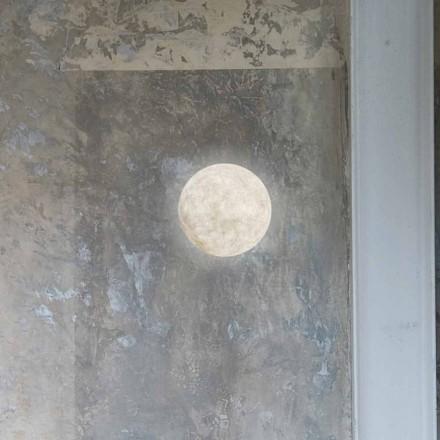 Luminária de parede moderna In-es.artdesign A. Moon in nebulite