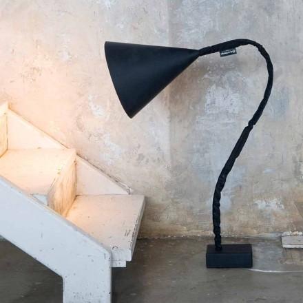 Luminária de pé moderna In-es.artdesign Lousa de resina de flor