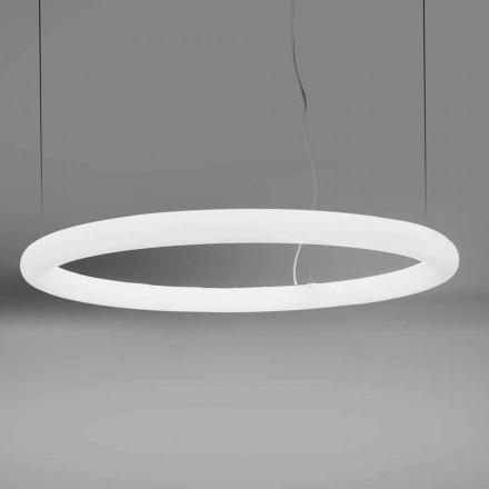 Candeeiro de Suspensão Redondo LED em Polietileno Fabricado na Itália - Slide Giotto
