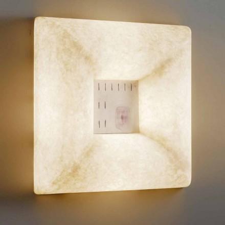 Luminária de parede de nebulite branca In-es.artdesign Dada Luna 1 design