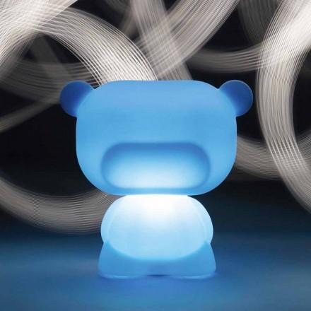 Candeeiro de mesa em forma de urso brilhante Slide Pure, produzido 100% na Itália