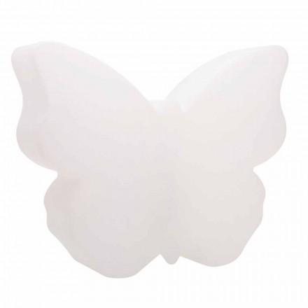 Abajur ou abajur para interior ou exterior, borboleta branca - Farfallastar