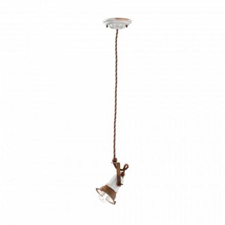 Alayna ajustável cerâmica e lâmpada de suspensão de metal por Ferroluce