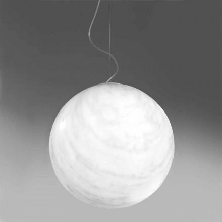 Modern bola suspensa lâmpada em polietileno Mineral Slide feita na Itália