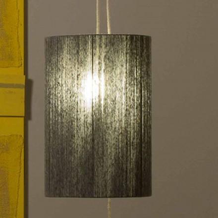 Suspenso / lâmpada de assoalho feita de latão e lã feita na Itália Evita