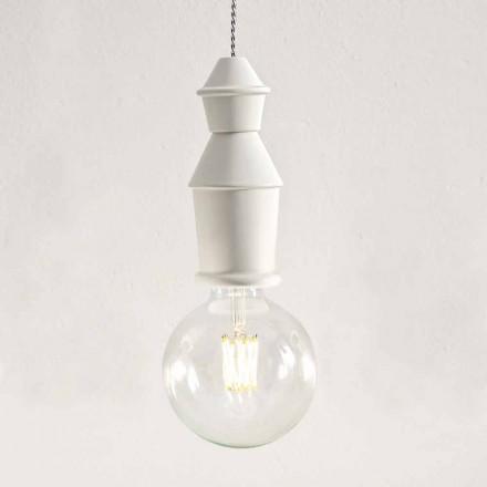 Lâmpada de suspensão de cerâmica chique gasto - destino por Aldo Bernardi