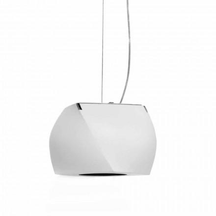 Lâmpada suspensa de design em metal e resina branca fabricada na Itália - Pequim