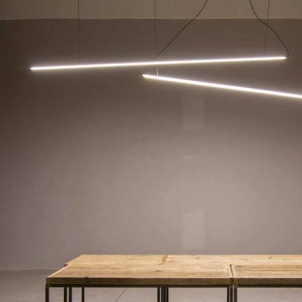 Lâmpada Suspensa Feita à Mão em Alumínio com Barra LED Made in Italy - Ledda