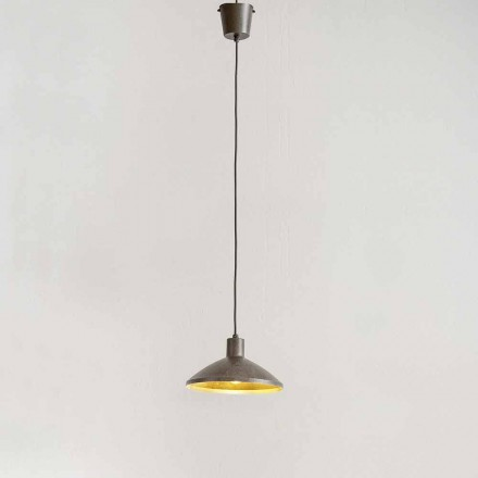 Lâmpada de suspensão em aço antigo Diâmetro 310 mm - Materia Aldo Bernardi