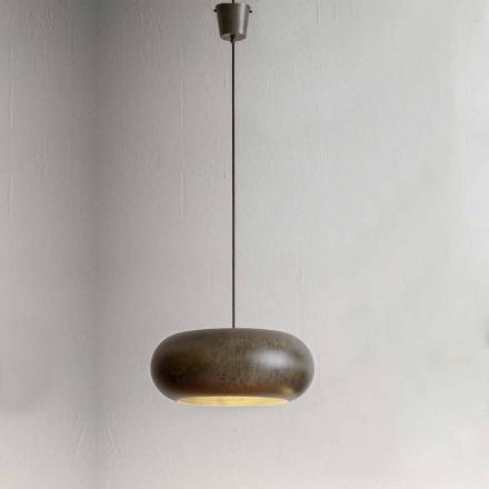 Lâmpada Suspensa em Aço Diâmetro 500 mm - Materia Aldo Bernardi
