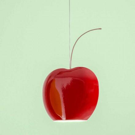 Lâmpada Suspensa de Cerâmica em Cereja - Frutas Aldo Bernardi