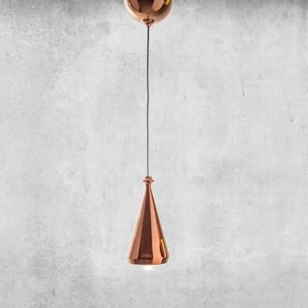 Lâmpada suspensa LED design em cerâmica - Lustrini L2 Aldo Bernardi