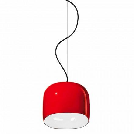 Lâmpada de suspensão estilo moderno em cerâmica fabricada na Itália - Ferroluce Ayrton