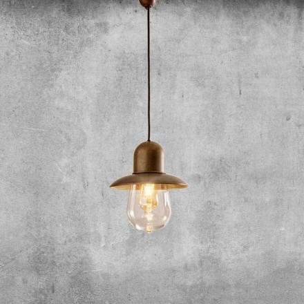 Lâmpada Suspensa Vintage com Refletor de Latão - Guinguette Aldo Bernardi