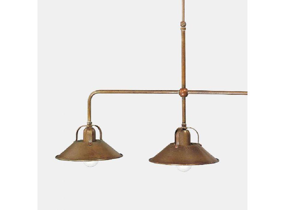 Candelabro de 3 luzes em latão com design vintage feito na Itália - Cascina por Il Fanale