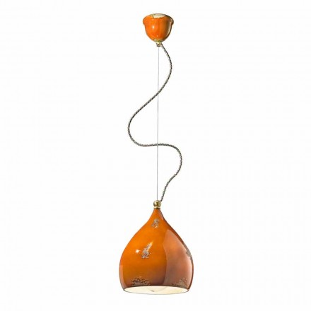 Luz pingente de design vintage artesanal na Itália por Ferroluce