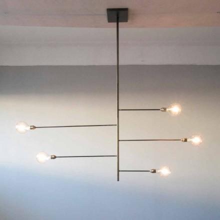 Lustre Artisan Design com Estrutura de Ferro Fabricado na Itália - Tinna