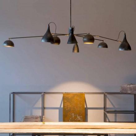 Lustre de ferro artesanal com persianas de alumínio Made in Italy - Verino