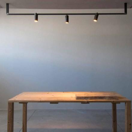 Lustre de design moderno feito à mão em ferro preto feito na Itália - Pamplona