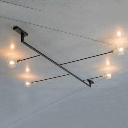 Lustre Feito à Mão em Ferro com 4 Luzes Made in Italy - Anima