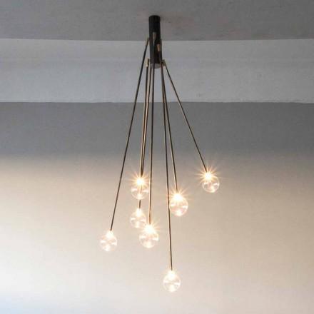 Lustre feito à mão em ferro com 7 luzes feito na Itália - Ombro