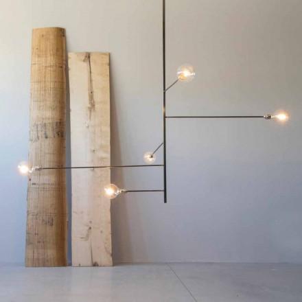 Lustre feito à mão moderno com estrutura de ferro feito na Itália - Tinna