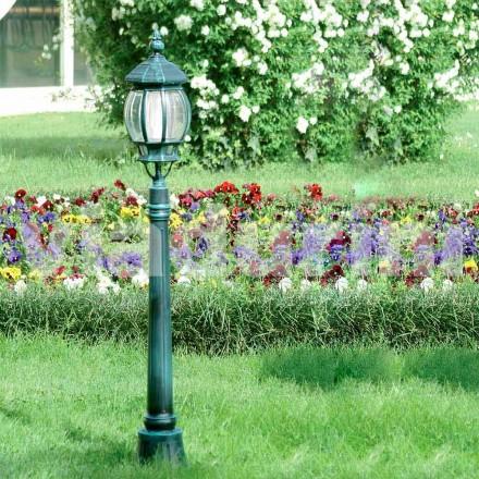 Poste de luz de jardim feito com alumínio fundido, feito na Itália, Anika