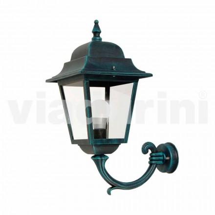 Lanterna de parede de jardim feita de alumínio, produzida na Itália, Aquilina