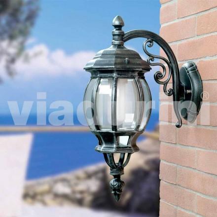 Lanterna de parede de jardim feita de alumínio, produzida na Itália, Anika