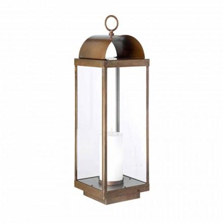 Made in Italy lanterna de piso ao ar livre com vela Il Fanale