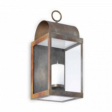 Made in Italy lanterna de parede ao ar livre feita de latão e ferro
