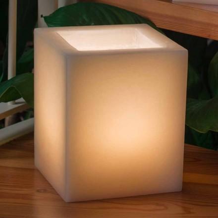 Efeito riscado de lanterna de cera perfumada com vela feita na Itália - Famme