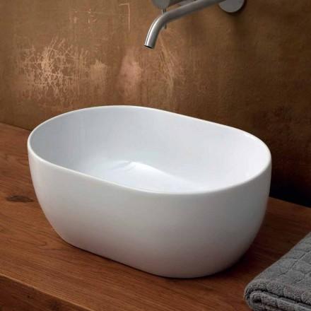 Design moderno 45x32 cm lavatório cerâmico da bancada feito em Itália, estrela
