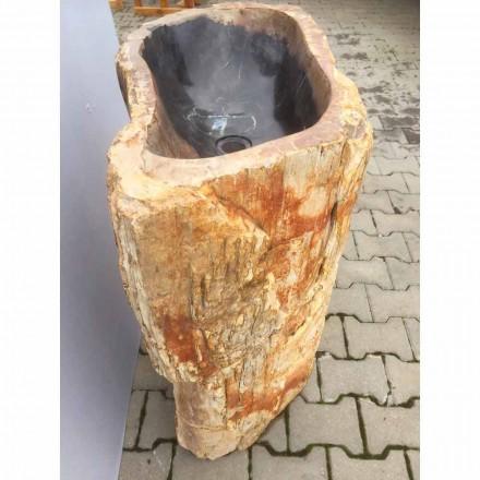 Lavatório autoportante artesanal feito de pedra natural Ley