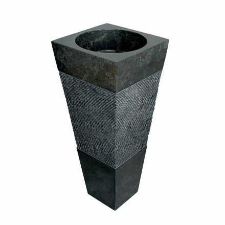 Lavatório autoportante de pedra preta Nias