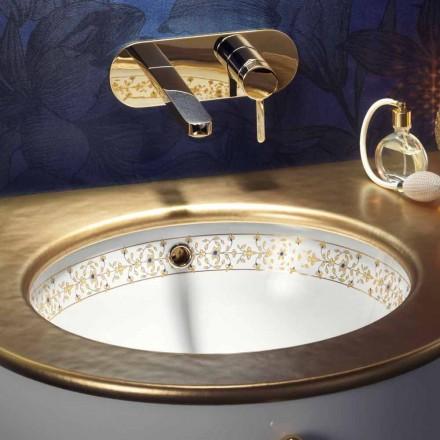 Design barroco embutido pia em argila de fogo feita na Itália, Egeo