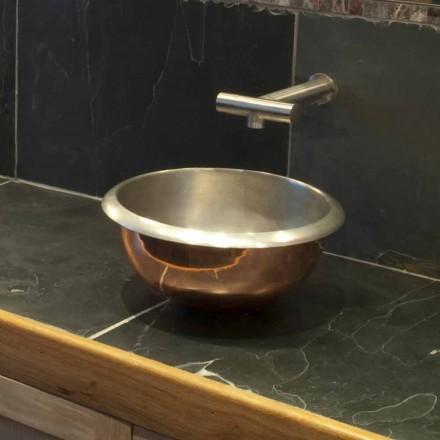 Lavatório de apoio design de cobre puro
