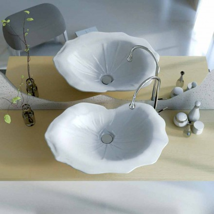 Lavatório de apoio em forma de folha, design moderno, Farfuglium