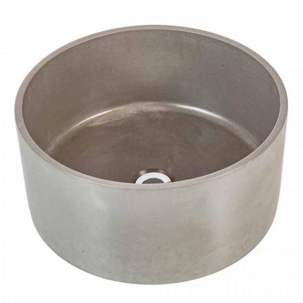 Lavatório de apoio circular design em cimento Rivoli