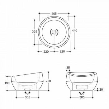 Lavatório circular de cerâmica design feito na Itália Elisa