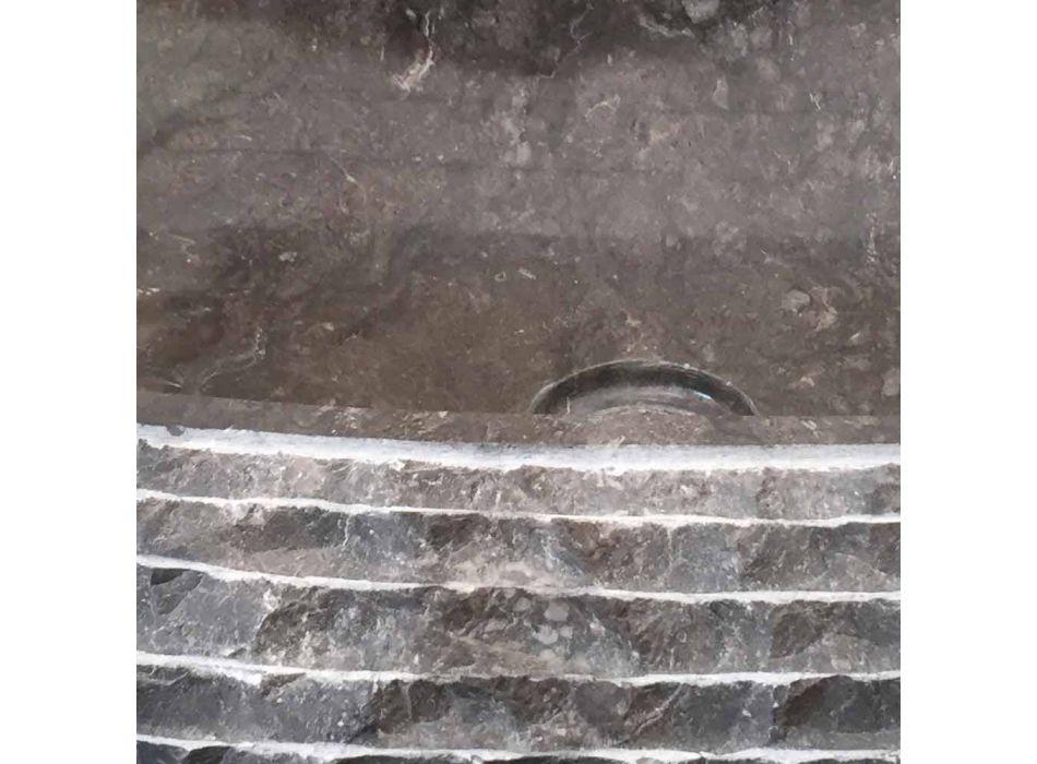 Ewa lavatório cinzento escuro, uma peça