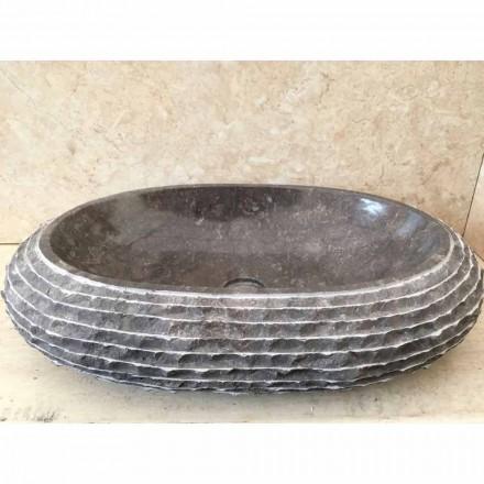 Bacia de bancada cor cinza escuro Ewa, peça única de design