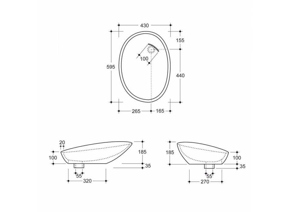 Design de bancada lavatório de cerâmica python preto feito na Itália brilhante